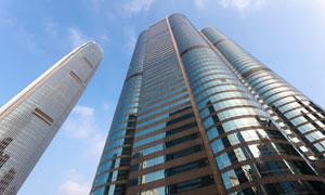 城市摩天大楼景观仰拍摄影高清图片