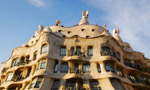 巴塞罗那米拉之家风光摄影高清图片