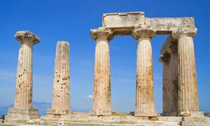古科林斯的阿波罗神庙摄影高清图片