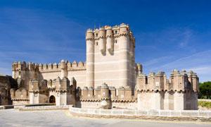 西班牙古城堡建筑景观摄影高清图片