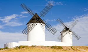 西班牙风车等景观风光摄影高清图片