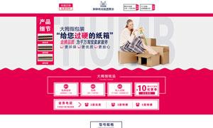 天猫纸箱店铺首页设计模板PSD素材