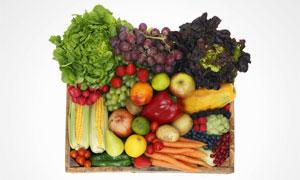玉米葡萄与洋葱等果蔬摄影高清图片