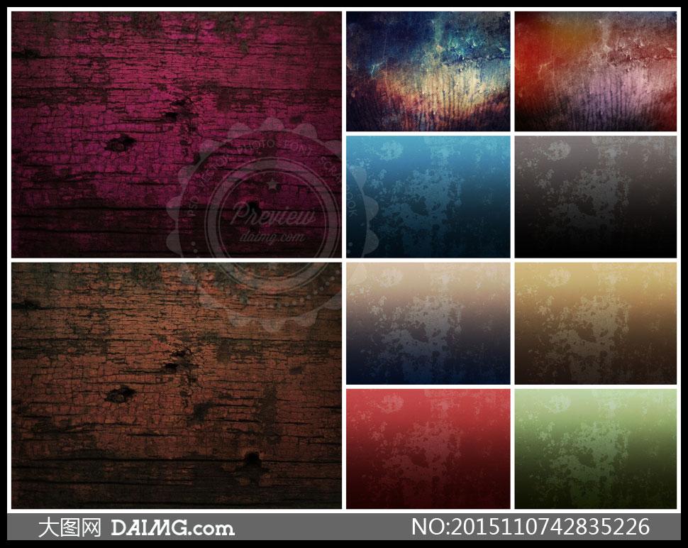 木质纹理与颓废效果背景等高清图片