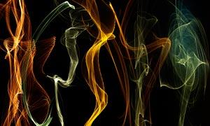 动感曲线和梦幻光线PSD分层素材