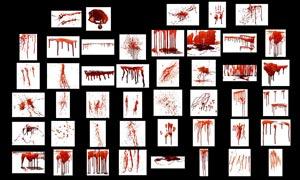 逼真的血迹流淌和血手印PSD分层素材