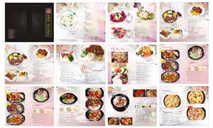 西餐厅菜谱设计模板矢量素材