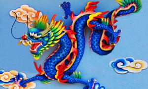 张牙舞爪的中国龙创意设计高清图片