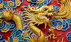 祥云衬托的中国龙创意设计高清图片