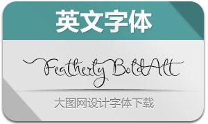 FeatherlyBold系列三款英文字体
