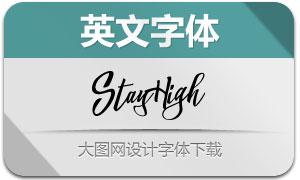 StayHigh系列四款英文字体