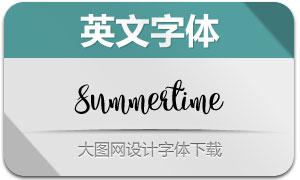 Summertime系列四款英文字体