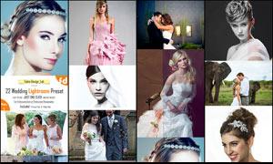 22款婚禮照片后期調色LR預設