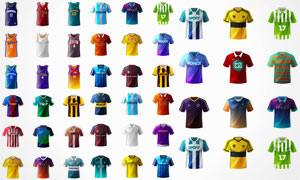 足球等俱乐部球衣设计矢量素材集V1
