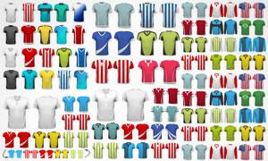 足球等俱乐部球衣设计矢量素材集V2