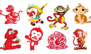 2016卡通猴子集合PSD分层素材