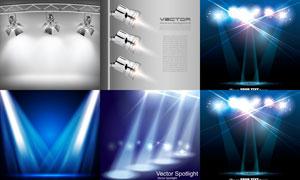 不同场景下的聚光灯主题矢量素材V2