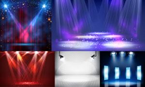 不同场景下的聚光灯主题矢量素材V4