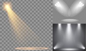 不同场景下的聚光灯主题矢量素材V5