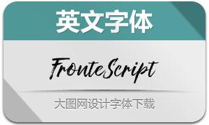 Fronte系列三款英文字体