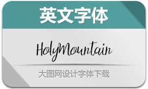 HolyMountain系列四款英文字体