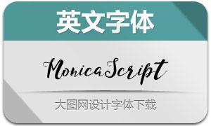 MonicaScript系列两款英文字体