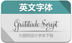 Gratitude系列六款英文字体