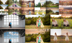 Pure系列照片添加唯美云彩效果PS动作