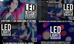 数码人像转LED彩灯效果PS动作