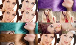 人像后期化妆和换头发颜色PS动作