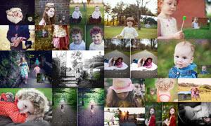 儿童照片后期微光甜美效果PS动作
