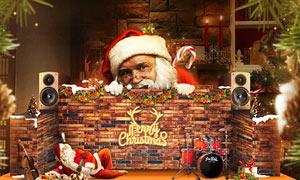 圣诞节主题海报设计PS教程素材