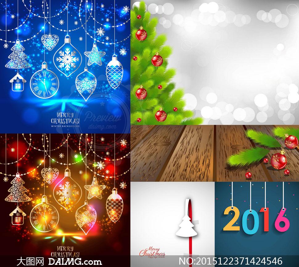 矢量图设计素材创意设计圣诞节节日素材圣诞树树枝树