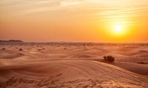 黄昏茫茫荒漠自然风光摄影高清图片