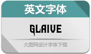Glaive系列两款英文字体