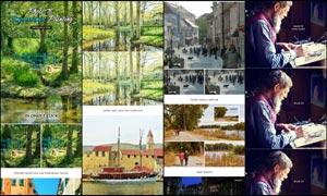 數碼照片轉印象派油畫效果PS動作