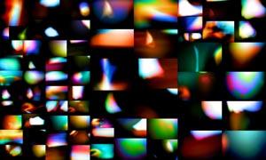 71张高清晰绚丽漏光效果图片素材