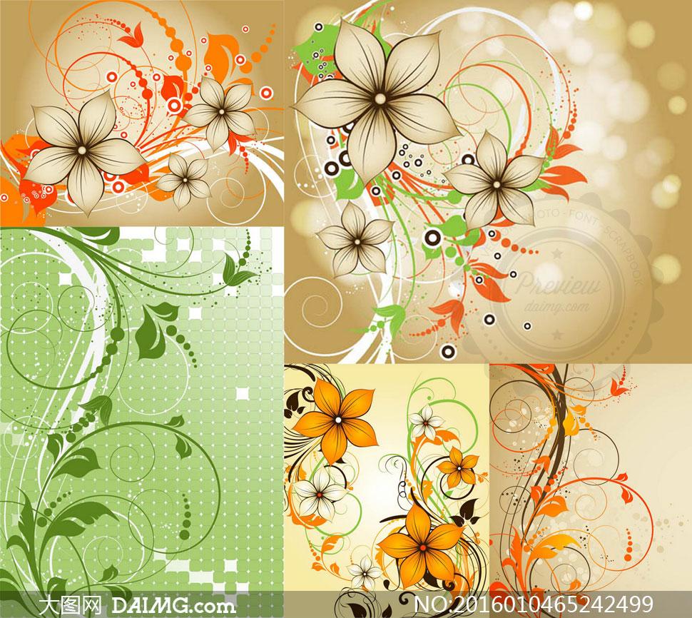 线条与花纹装饰图案等设计矢量素材