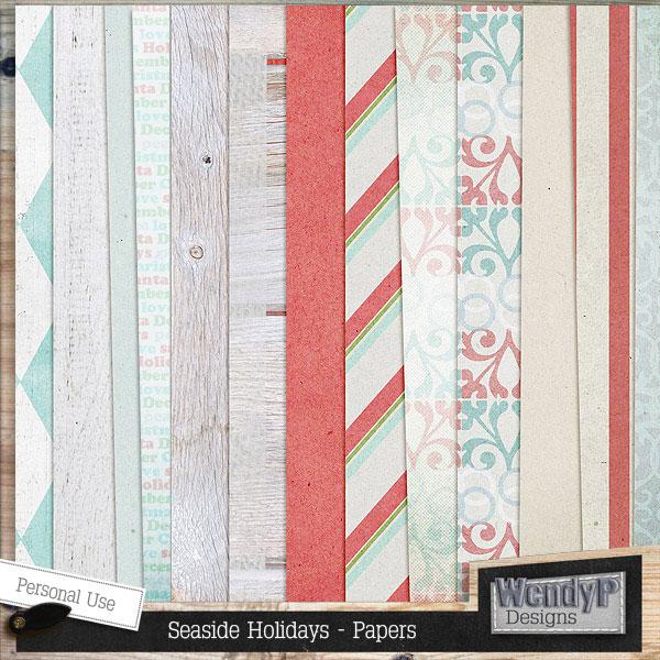布袋缎带与海螺海星等欧美剪贴素材