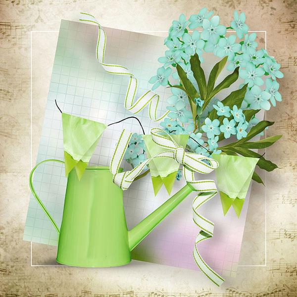 辣椒缎带与纸花蝴蝶等欧美实物素材