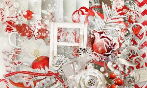 树枝糖果与圣诞服等圣诞节实物素材