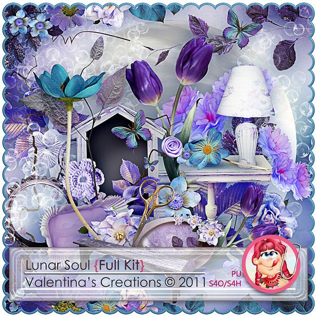 边框花朵与树叶台灯等欧美剪贴素材