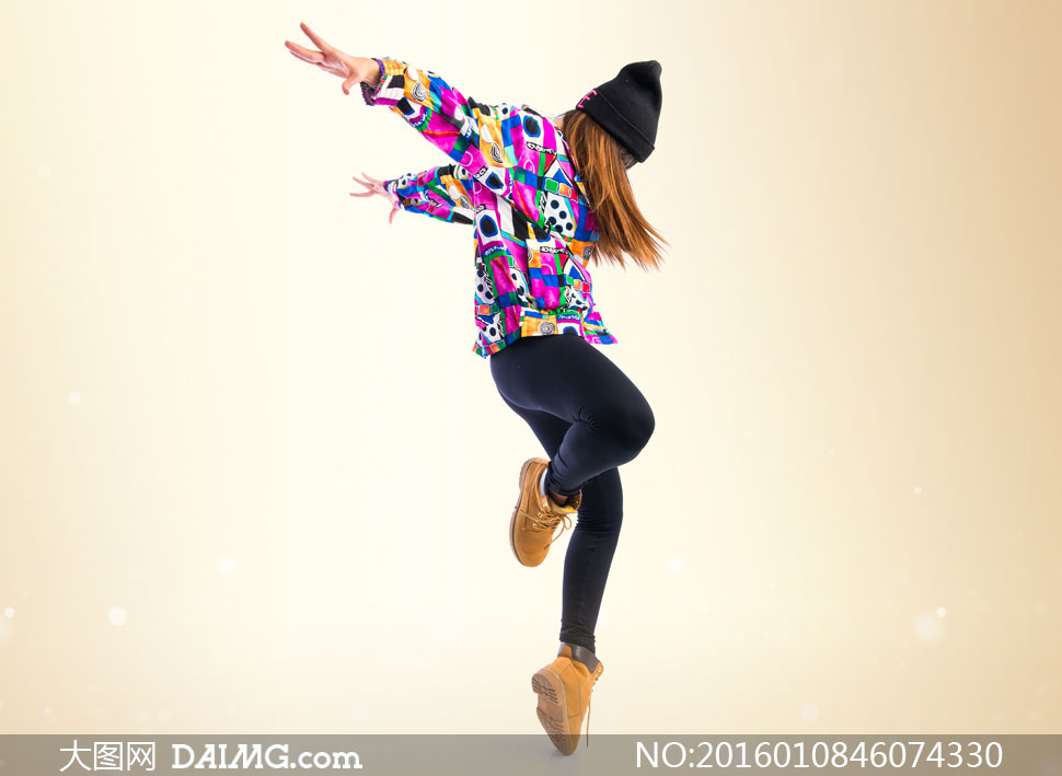 舞蹈美女人物写真侧面摄影高清图片