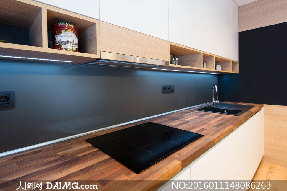 厨房台面与橱柜等布局摄影高清图片 - 大图网设计素材