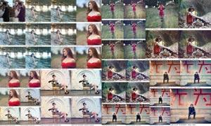 JD系列人像照片复古暖色效果PS动作