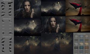 JD系列乌鸦和颓废纹理背景图片素材