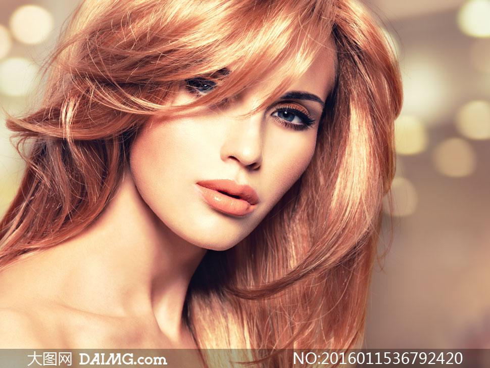 美女模特人物近景写真摄影高清图片