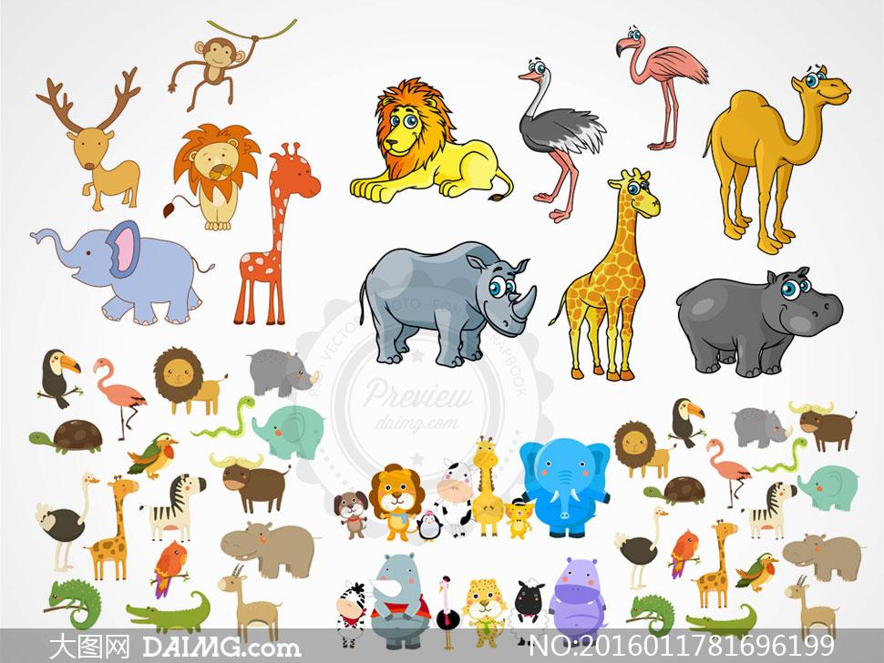 画大象和狐狸的步骤