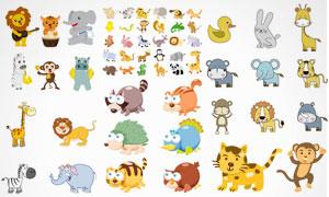 卡通萌萌哒小动物创意设计矢量素材