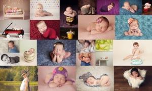 大师级新生儿宝宝艺术效果PS动作